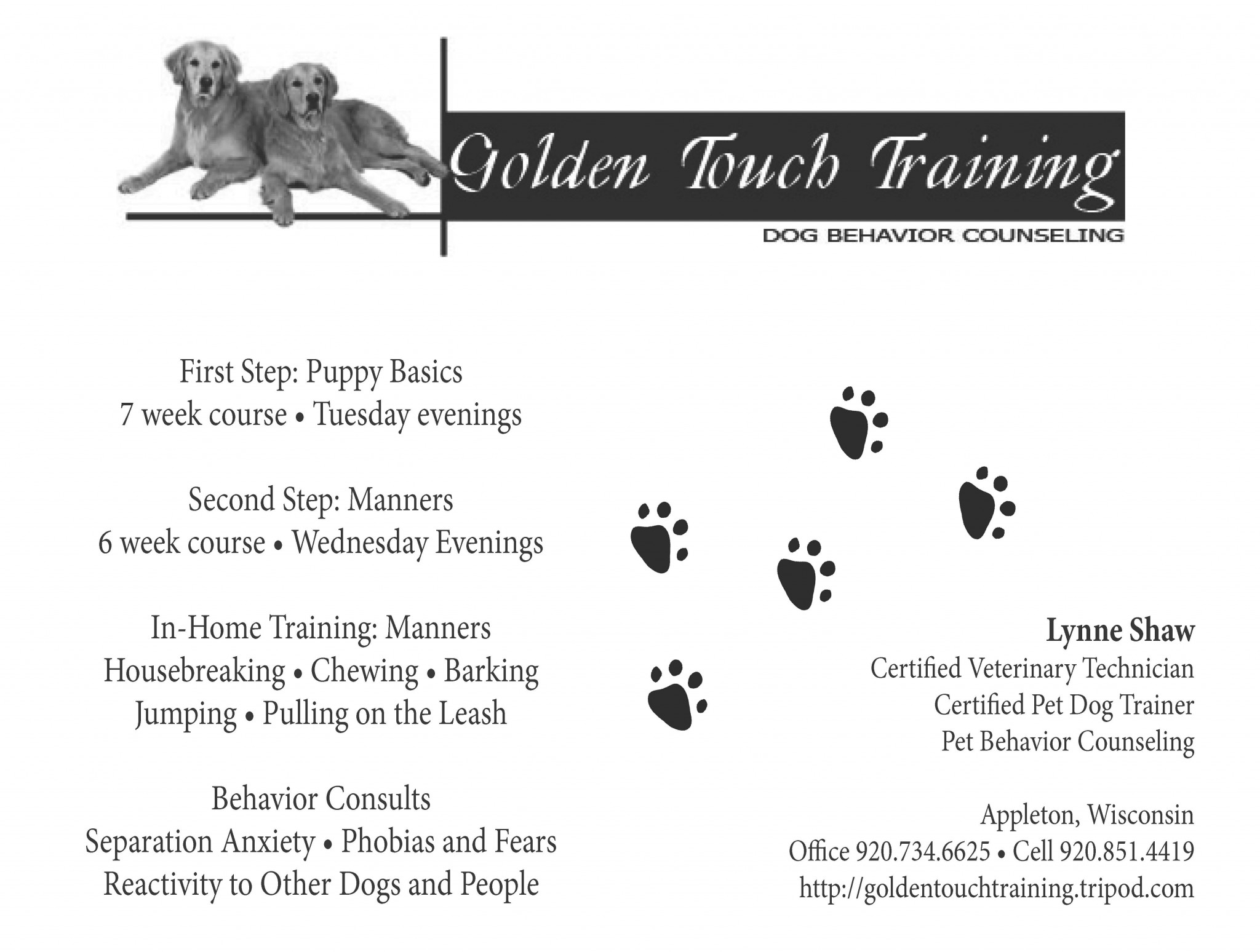 Golden Touch training